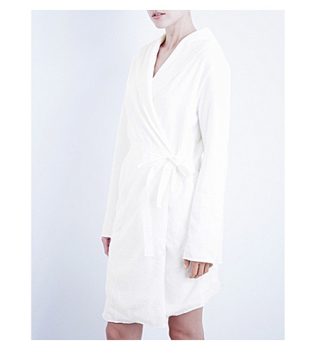 SKIN Luxe pima cotton-terry robe (White