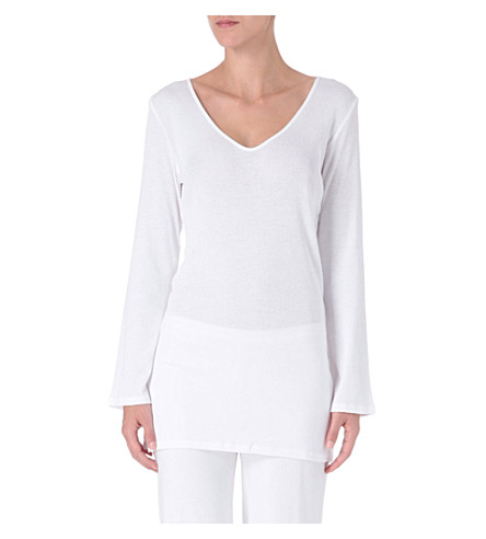 SKIN 365 ribbed tunic (White