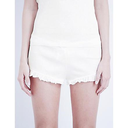 SKIN 365 ribbed shorts (White