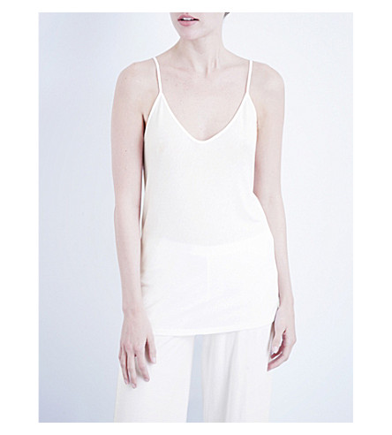 SKIN 365 cotton camisole (White