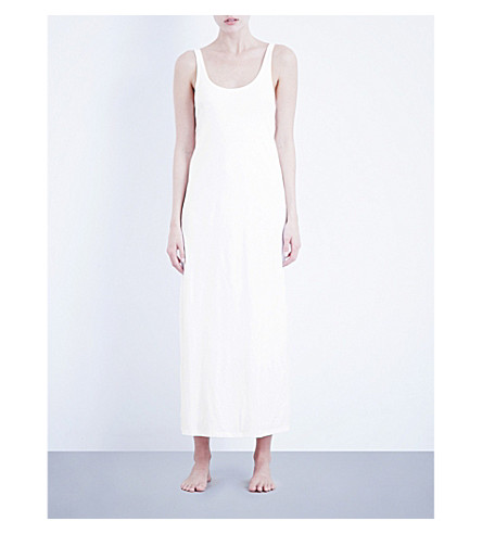 SKIN Long City pima-cotton dress (White