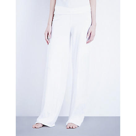 SKIN 365 double-layer cotton lounging trousers (White