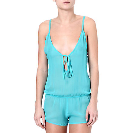 BEAUTIFUL BOTTOMS Drop-back playsuit (Cyan