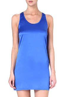 MC LOUNGE Racer-back silk chemise