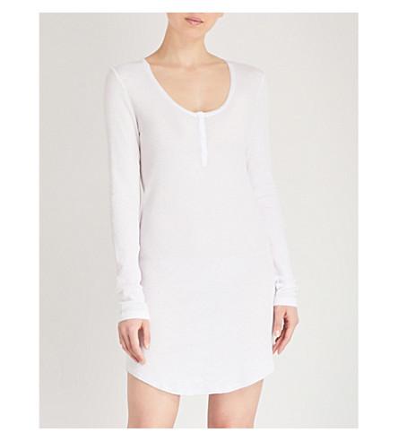 SKIN Wynn cotton Henley top (White