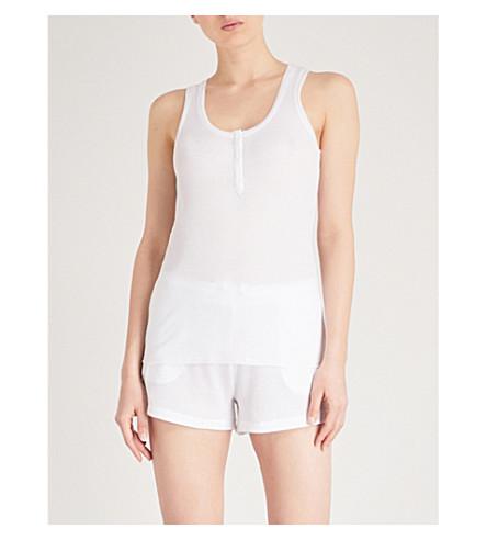 SKIN Whitney cotton vest (White