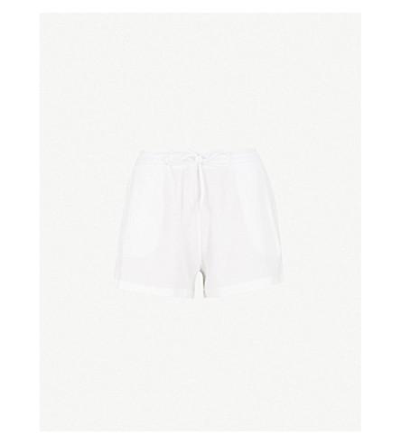 SKIN Winona textured cotton shorts (White