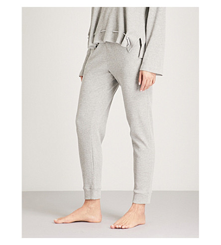 SKIN Ilya cotton-blend jogging bottoms (Heather+grey