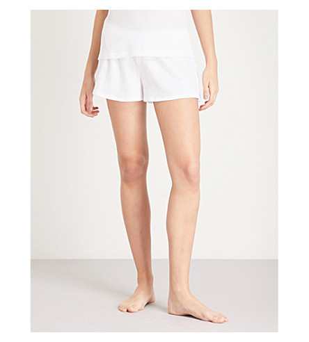 SKIN Agata cotton-jersey pyjama shorts (White