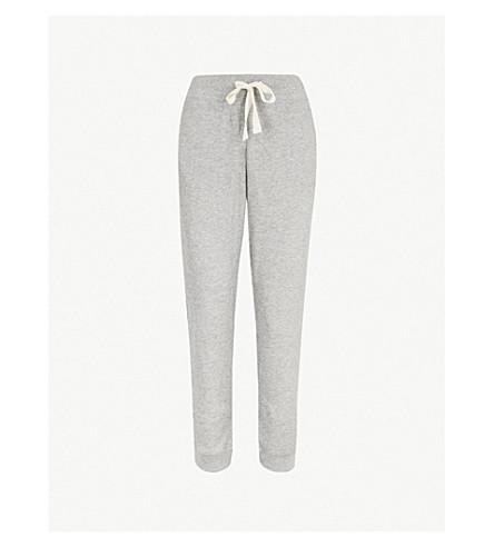 SKIN Ede cotton-blend pyjama bottoms (Heather+grey