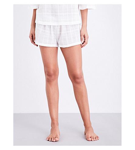SKIN Relaxed-fit cotton-gauze pyjama shorts (White