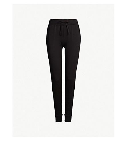 SKIN Skinny cotton-jersey pyjama bottoms (Black