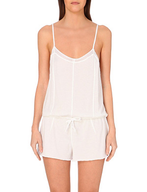 SKIN Cut-out cotton romper