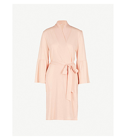 SKIN Lex cotton robe (Powder+pink