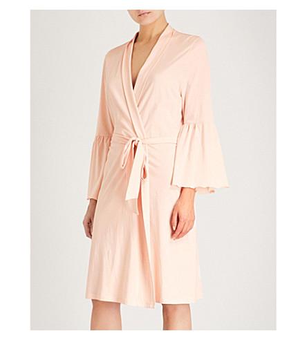 SKIN Lex cotton robe (Powder+pink