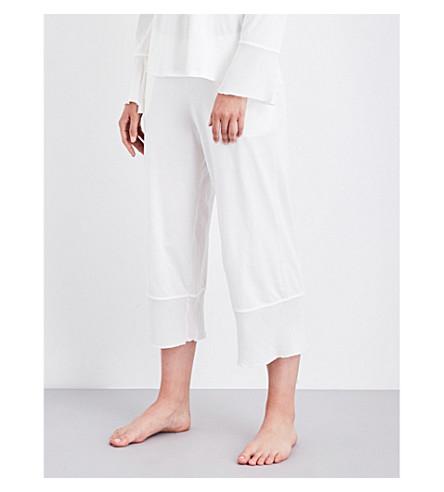 SKIN Cropped cotton pyjama bottoms (Alabaster