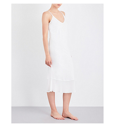 SKIN V-neck pima cotton chemise (Alabaster