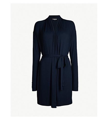 SKIN Wrap cotton-blend dressing gown (Moonlight