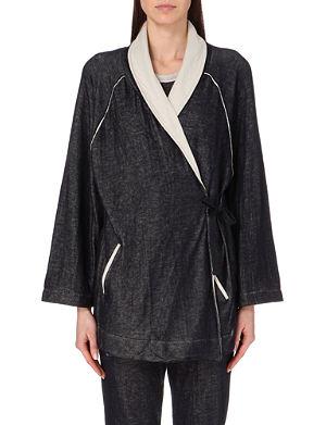 SKIN Cotton kimono robe
