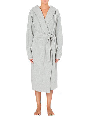 SKIN French terry cocoon robe