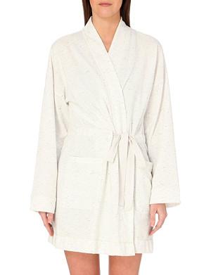 SKIN Neppy cotton robe