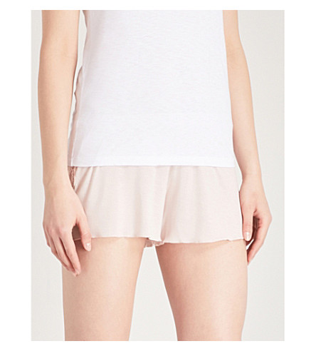 SKIN Jessie stretch-jersey shorts (Soft+pink