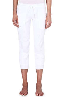SKIN Cropped drape-pocket trousers