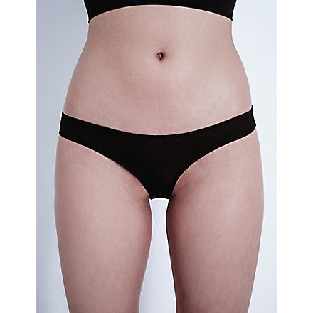 SKIN Organic pima cotton briefs (Black
