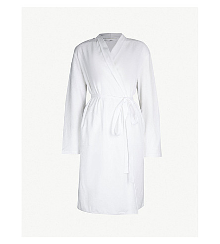 SKIN Organic-cotton-towelling dressing gown (White