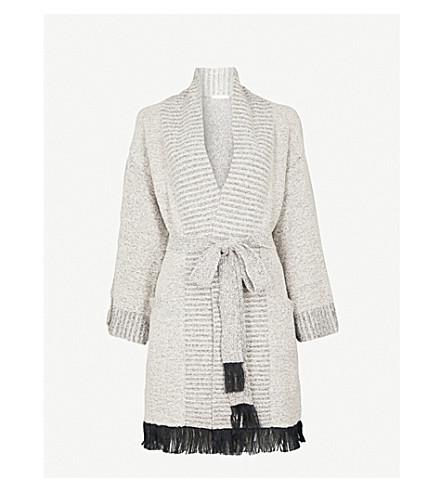 SKIN Cozy cotton-blend robe (Ivory