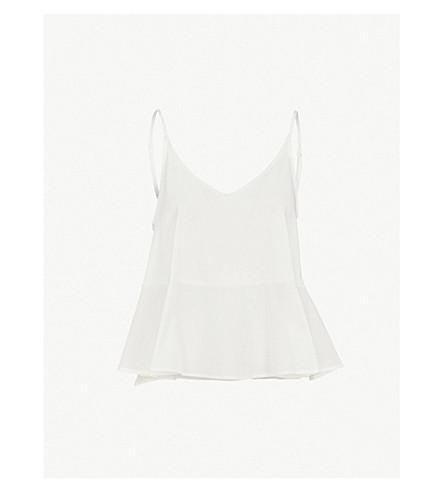 SKIN Bella flared pima cotton pyjama camisole (Gardenia