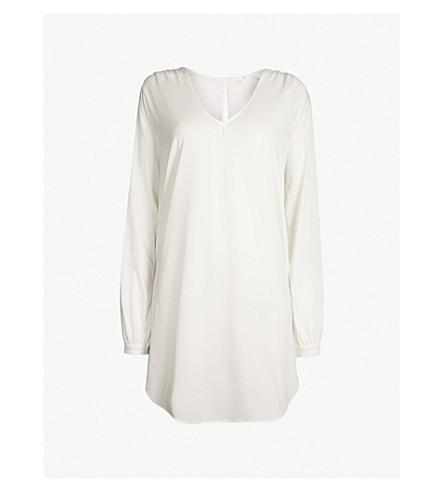 SKIN Justine cotton-jersey pyjama sleep shirt (Coconut