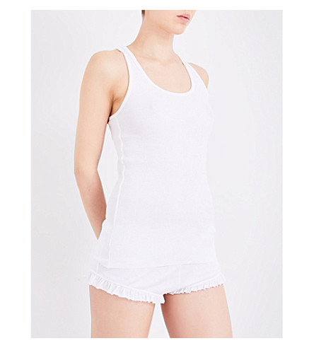 SKIN Organic pima-cotton top (White
