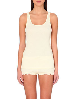 SKIN 365 ribbed cotton tank top