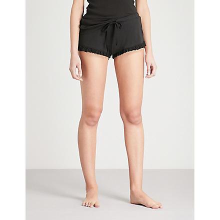SKIN 365 ribbed shorts (Black