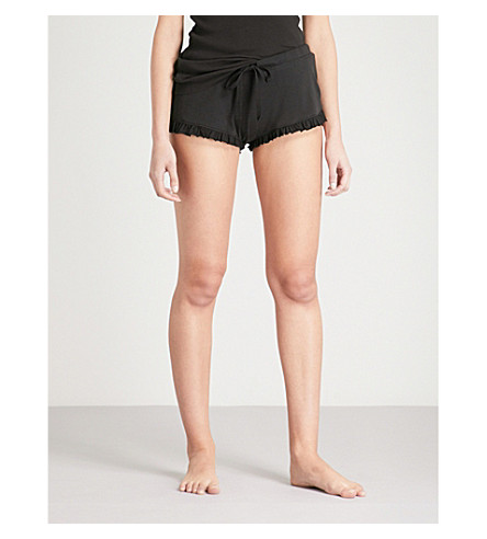 SKIN 365 ribbed shorts (Black
