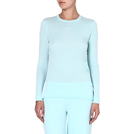SKIN Pima cotton pyjama top (Aqua