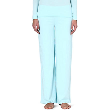 SKIN Pima cotton pyjama bottoms (Aqua