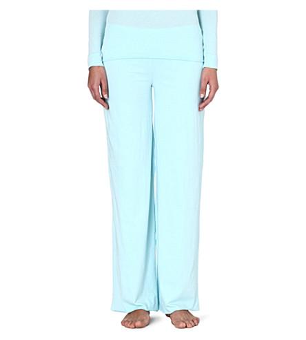 SKIN Pima cotton pyjama bottoms (Aqua