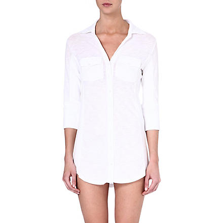 SKIN Everywhere organic pima cotton tunic (White