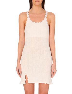 SKIN Lace City cotton chemise