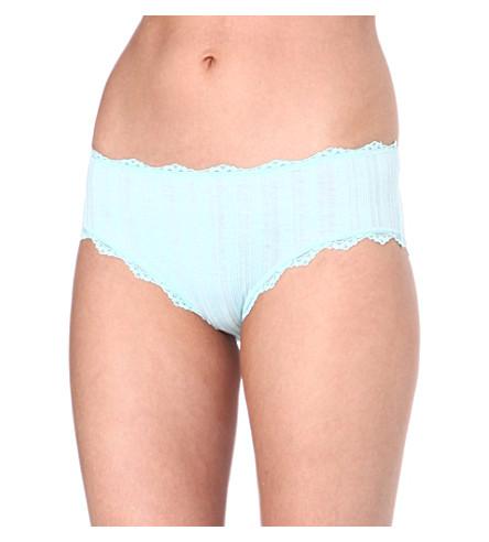 SKIN Lace city boy shorts (Aqua