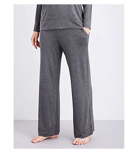 SKIN Relaxed-fit jersey pyjama bottoms (Charcoal