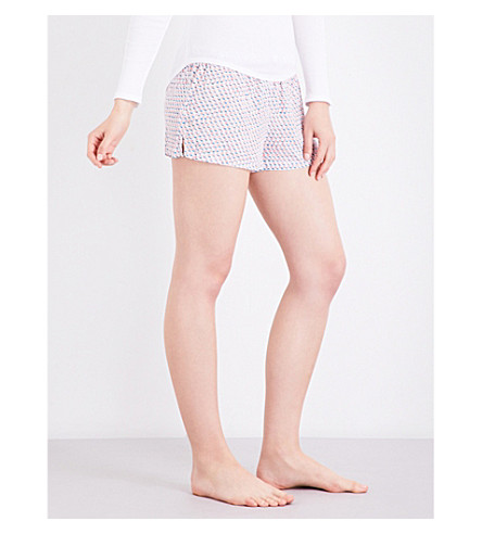 CALVIN KLEIN Printed woven pyjama shorts (Ry7+layered+rectangles
