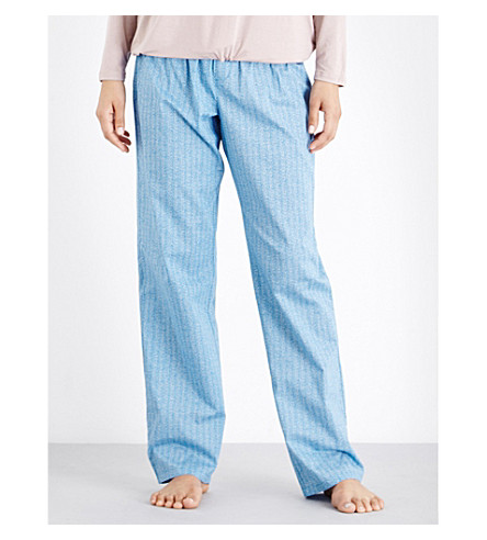 CALVIN KLEIN Printed straight cotton pyjama bottoms (Ik3+linear+inked+geo