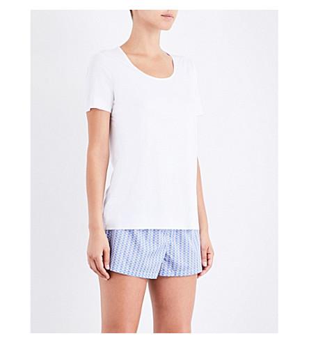 CALVIN KLEIN Printed cotton pyjama shorts (Rf7+floral+dot
