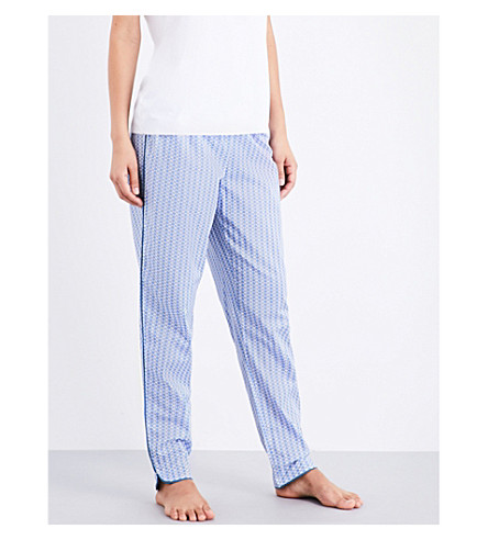 CALVIN KLEIN Printed cotton pyjama bottoms (Rf7+floral+dot