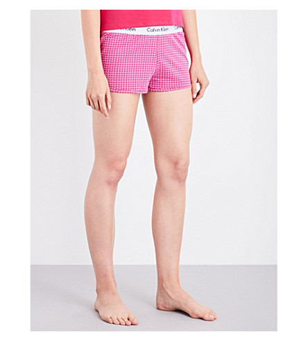 CALVIN KLEIN Geometric-print stretch-cotton pyjama shorts (Yp6+yipee+dot