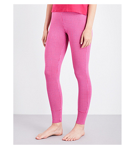 CALVIN KLEIN Geometric-print skinny stretch-cotton pyjama bottoms (Yp6+yipee+dot
