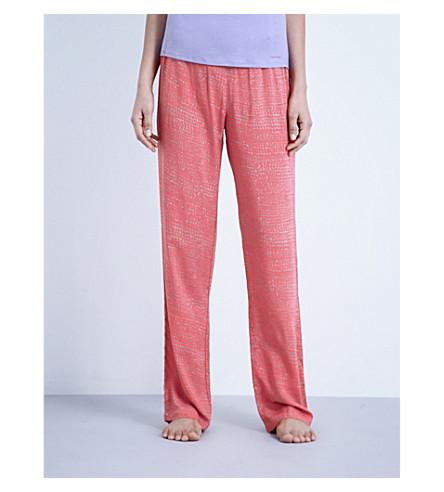CALVIN KLEIN Printed jersey pyjama bottoms (4wi+wild+snake+skin